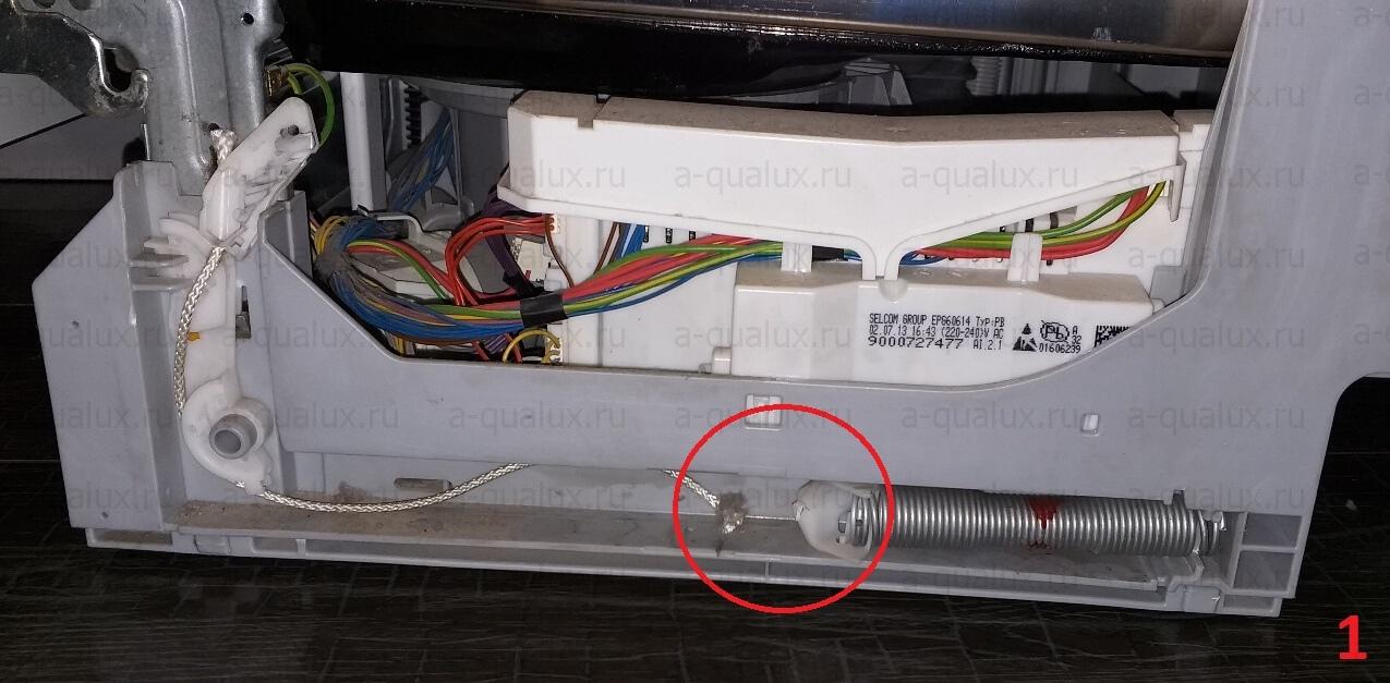 повреждение троса двери посудомоечной машины Bosch
